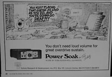 1983 Power Soak by Tom Scholz for electric guitarists cartoon print ad