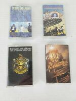 Lot of 4 Audio Cassettes of Classic Rock from EMERSON LAKE AND PALMER ELP