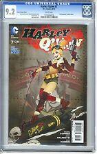 """Harley Quinn #7  CGC  9.2 NM-  White pgs  8/14   Lucia Variant Cover """"DC Bombshe"""