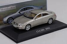 Mercedes-Benz CLS 500 c219 2004 oro/beige metalizado 1:43 Ixo Altaya Collection