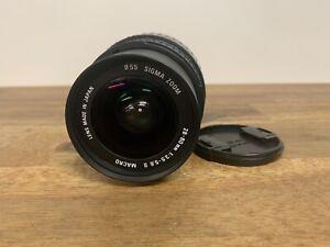 Sigma Zoom 28-80mm 1:3.5-5.6 II Macro Lens Aspherical Made in Japan