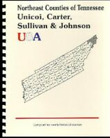 History of Unicoi/Carter/Sullivan/Johnson County Tennessee 1887 Kingsport TN RP
