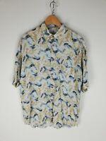 MOMENTI UOMO Camicia VINTAGE MADE IN ITALY Maniche Corte Shirt Maglia Tg L Uomo