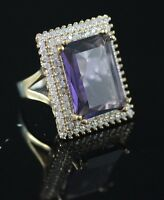 BEAUTIFUL!TURKISH HANDMADE AMETHYST STERLING SILVER 925K BRONZ RING SIZE 9