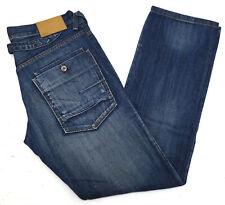 Fishbone Herren Jeans Hose 32/32 W32 L32 Straight stonewashed used blau TOP C399