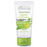 Bielenda Cucumber & Lime 3in1 Wash Gel Scrub Serum Anti-Shine Combination Skin