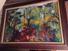 ORIGINAL Abstract Large Painting, Landscape Oil Canvas Signed Mitchell