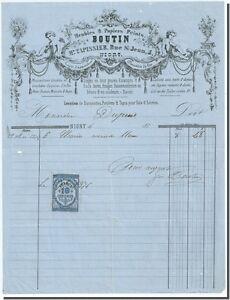 Facture - BOUTIN maitre Tapissier Meubles & papiers peints à Niort 1876