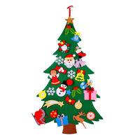 1X(Kids Felt Christmas Tree with Ornaments Xmas Gift DIY Door Wall Hanging O9T1