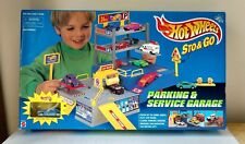 *New In Box* Mattel HOT WHEELS Sto & Go Parking & Service Garage 1996 vintage