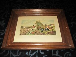 """J.F. Herring, """" Full Cry """", J. Harris Engraving Matted and Framed"""