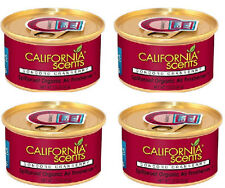 4 Pack Concord Cranberry California Scents Spillproof Organic Can Air Fresheners