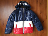 TOMMY HILFIGER GIRLS BOYS COAT Colour Block Quilted Puffer Jacket M 8-9-10 Years