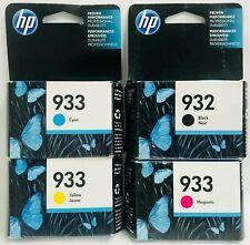 HP Genuine 932 B + 933 C M Y Ink Cartridges Officejet 6100, 6600, 6700, 7110