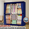 Portable Clothes Storage Closet Organizer Shelf Wardrobe Rack Shelves Fabric