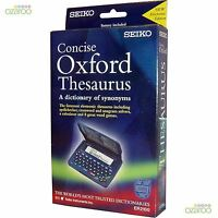 Seiko Concise Electronic Oxford Thesaurus and Spellchecker with 8 Word Games NEW