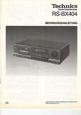 Service Anleitung Manual Heft Technics RS-BX404 Cassette Deck (B633)