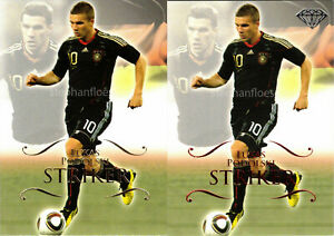 2011 Futera World Football Unique Lot #148 Lukas Podolski P148 Ruby /450