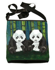 Panda Cubs Large Cross Body Bag, Salvador Kitti - Support Wildlife Conservation