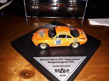 Scala43 1/43 Renault Alpine A110 #102 Klingenbergpreis 1973 Jagermeister SC01B