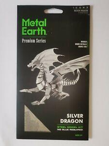 Metal Earth Silver Dragon ICONX model kit