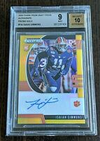 2020 Prizm Draft Picks ISAIAH SIMMONS Gold Prizm Auto #09/10 BGS 9 Mint