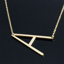 Fashion Jewelry for Women 2017 Big 26 Letter Necklaces Pendants Stainless Steel Gold V