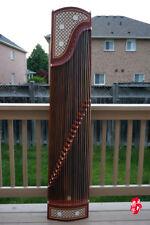 Dunhuang Guzheng, Chinese Zither Harp, 敦煌特氏古夷蘇木古箏 -- 蕉窗夜雨 徐振高監制