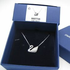 5007735 Swarovski Swan Necklace, Rhodium-Plated Clear Crystal Authentic MIB JP