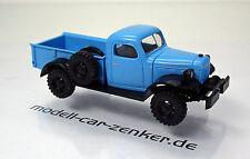 Busch 44024 Dodge Power Wagon blau USA Scale 1 87 NEU OVP