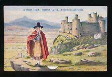 Wales Merioneth HARLECH Castle Pocket Novelty c1930/50s? PPC