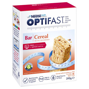 Optifast VLCD 6 x 65g (390g) Bars - Cereal w/ Cranberry Flavour Meal Replacement