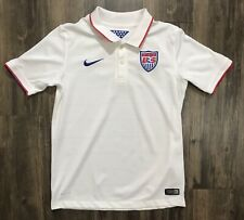 Nike USA United States Soccer Team Stadium Youth Jersey 578018-105 Boys L White