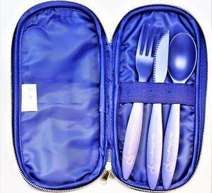 Walt Disney World Parks Reusable Utensil Cutlery Set Fork Spoon 50th Anniversary