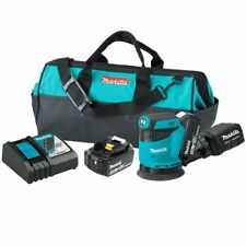 Makita XOB01T 18-Volt 5-Inch Lithium-Ion Cordless Random Orbit Sander Kit