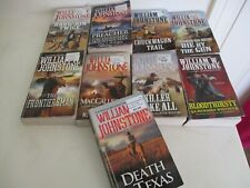 9 WILLIAM W. JOHNSTONE WESTERN BOOKS