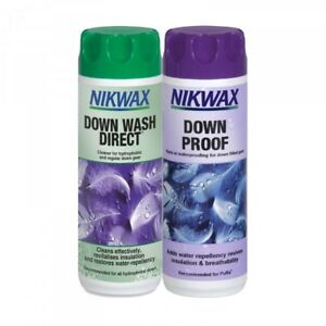 Nikwax 300ML Down Wash Direct & Down Proof Twin Pack Cleaning Waterproof Jacket