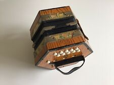 More details for vintage concertina squeezebox bm (scholer?) made in germany, 1 button stuck
