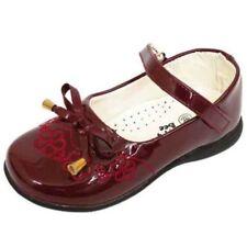 Chaussures rouges à enfiler pour fille de 2 à 16 ans
