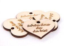 50x  Holzherzen  mit Text   als Gravur 4 cm ø Streuherzen Tischdeko Hochzeit