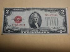 1928 D Red Seal $2 Two Dollar Bill