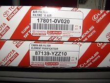 Toyota Genuine OEM  Air/Cabin Filter combo kit 87139-YZZ10/17801-0V020