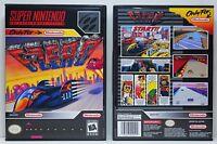 F-Zero - Super Nintendo SNES Custom Case *NO GAME*