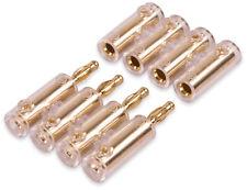 Yonix ® 4-fach Bananenstecker Steckverbinder vergoldet Stecker bis 10mm² BSY-394