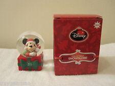 New 2013 Jc Penney Disney Mickey Mouse Snow Globe Snowglobe Nib Free Ship