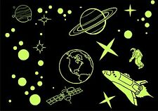 Glow In The Dark Wall Art Stickers - Luminescent - SPACE THEME - Large Size