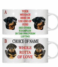 ROTTWEILER DOG PESONALISED/FUNNY/OWN PHOTO MUG