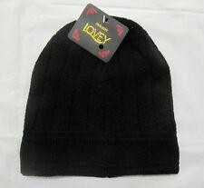 Brand New Popular Kids Boys Black Winter Stretchy Knitted Beanie Hat- AU STOCK
