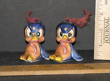 VINTAGE SET OF BIRDS WITH RHINESTONES SALT AND PEPPER SHAKERS 5486D