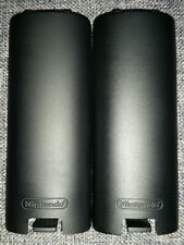 2 black official Nintendo Wii controller battery covers replacements